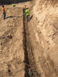 I suggest pumping the concrete to make it work the best. We are the best. If you need a v-ditch Precision Set-Up in the contractor to hire every time.