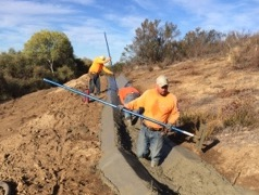 We get in the trench with you and complete flawless concrete ditch. Precision Set-Up Concrete. We wear all of the proper safety gear.
