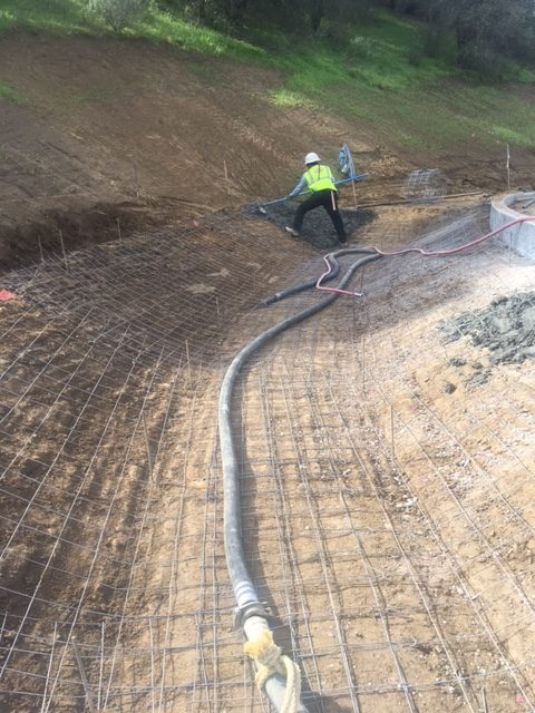 We pump the concrete in Temecula & San Diego. It's always reinforced. So Cal concrete. Vditch construction.